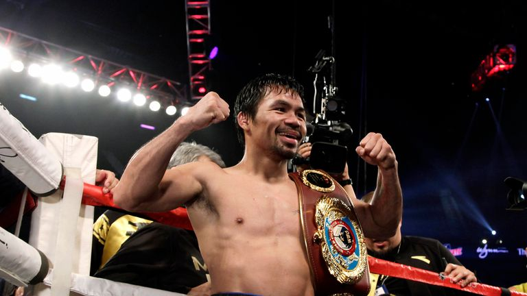 Manny Pacquiao has asked his Twitter followers to choose his next opponent from a list including Amir Khan and Kell Brook