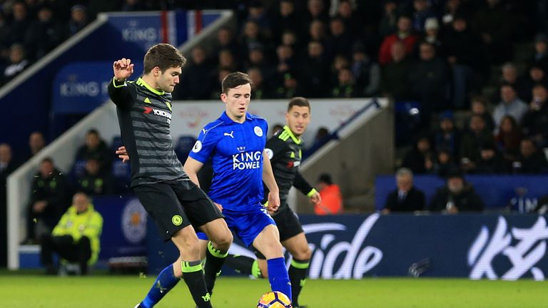 Marcos Alonso scores his second goal for Chelsea