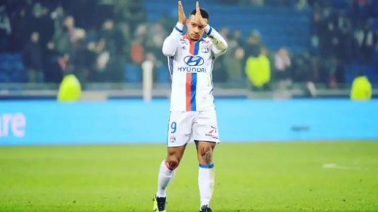 Memphis Depay got his first goal for Lyon since arriving at the club