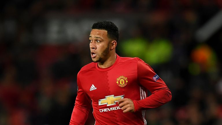 Depay scored twice in 33 Premier League appearances for United from 2015 to 2017