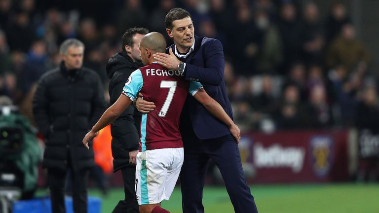 Slaven Bilic consoled Sofiane Feghouli following his red card