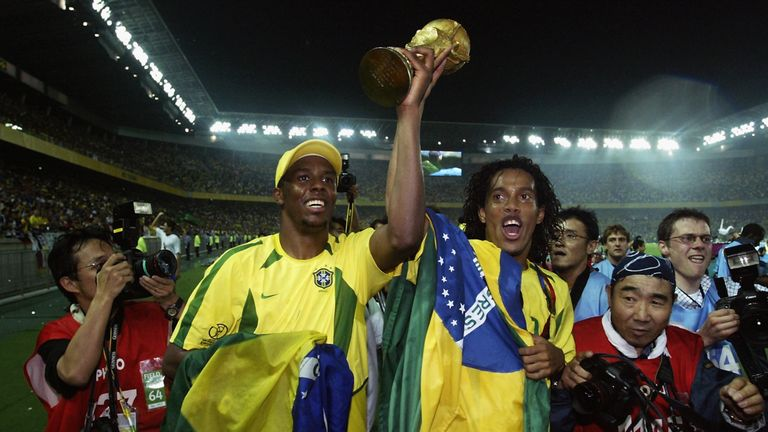 Ronaldinho won the World Cup with Brazil in 2002 although not everyone believed he would play for his country