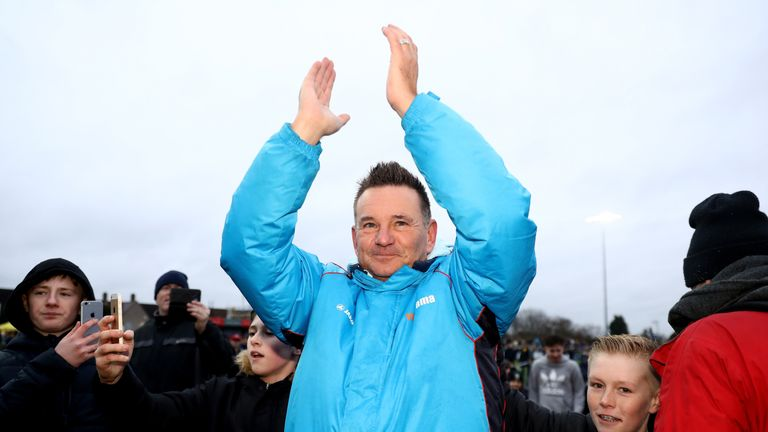 Sutton manager Paul Doswell will do battle with Arsene Wenger on Monday