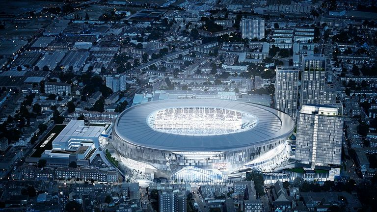 Tottenham's new stadium will cost in the region of £750m