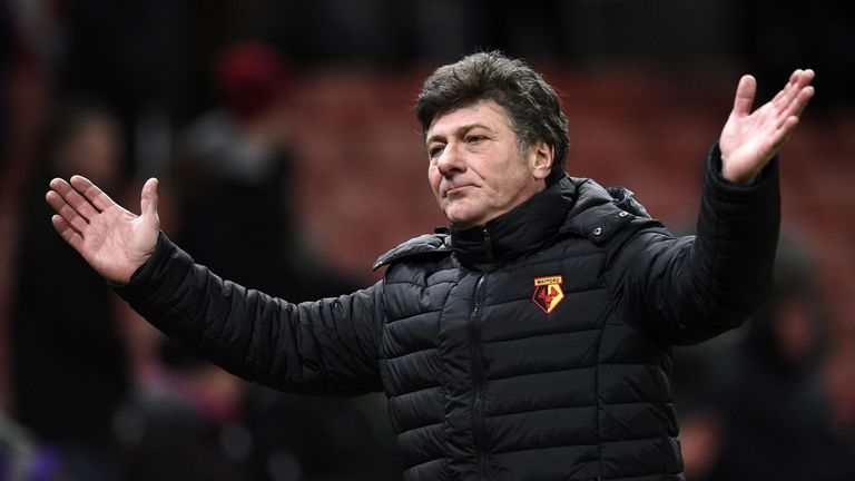 Walter Mazzarri has been removed from his role as Watford boss