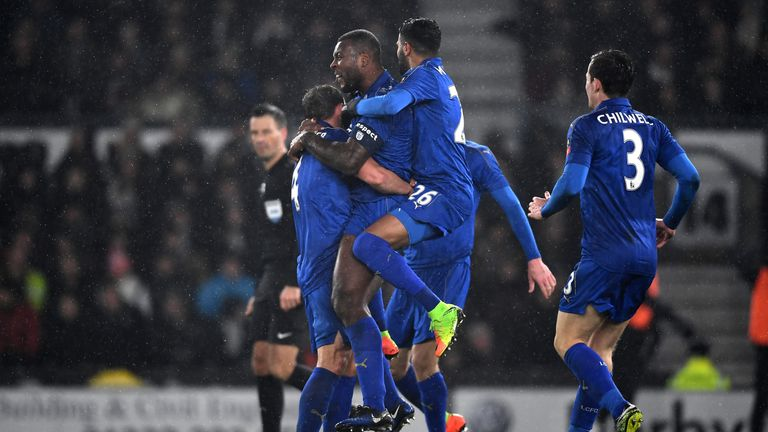 Wes Morgan's late goal rescued a replay for Leicester