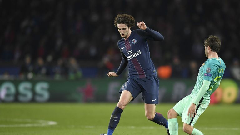 Paris Saint-Germain midfielder Adrien Rabiot (left) has revealed he's open to a move away from Ligue 1