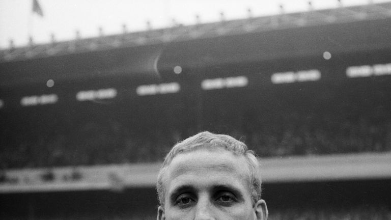 Alex Young was part of Everton's title-winning side in 1963