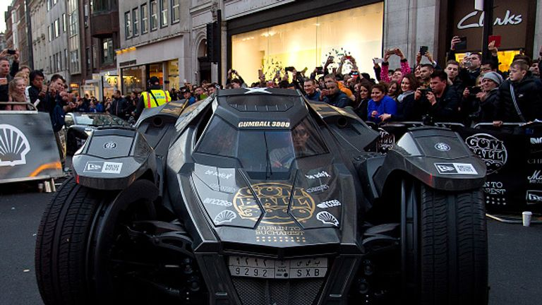Lawler is the proud owner of a Batmobile!
