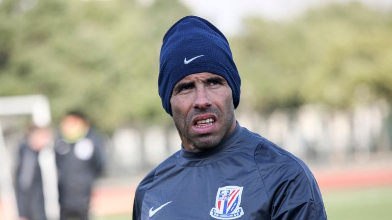 Carlos Tevez suffered defeat on his debut for Shanghai