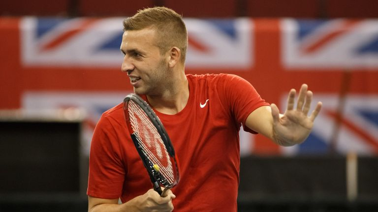 Evans put Great Britain 1-0 ahead in the Davis Cup tie