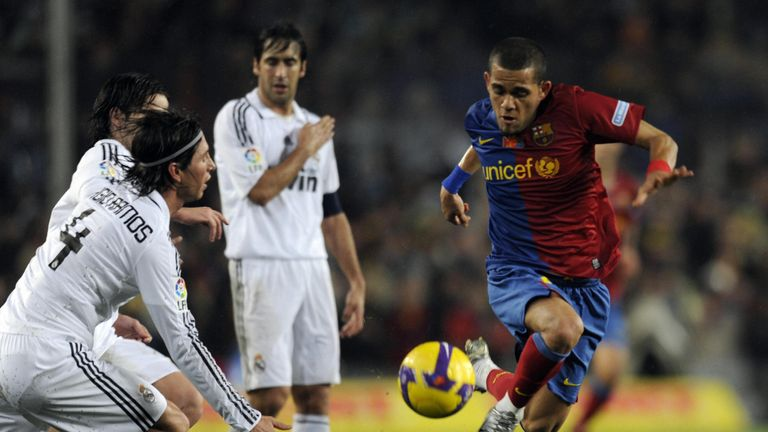 Dani Alves was a key figure for Pep Guardiola's Barcelona