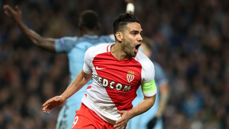 Falcao scored 30 goals in all competitions as Monaco won the Ligue 1 title last season