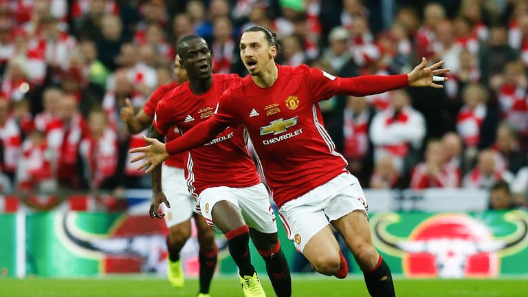 Zlatan Ibrahimovic scored a late winner to seal the cup for Man Utd last season