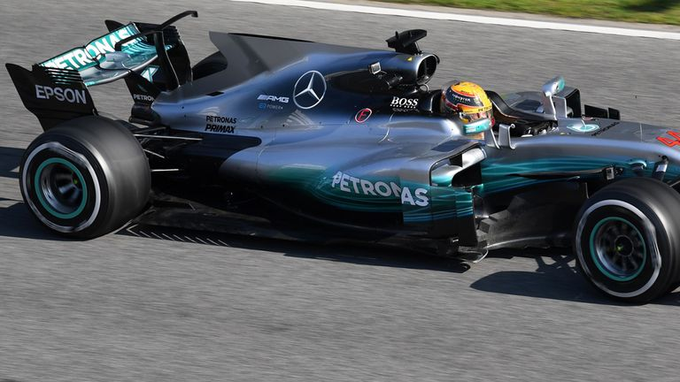 83df0b08355 Lewis Hamilton delighted with new Mercedes car after fast start to ...