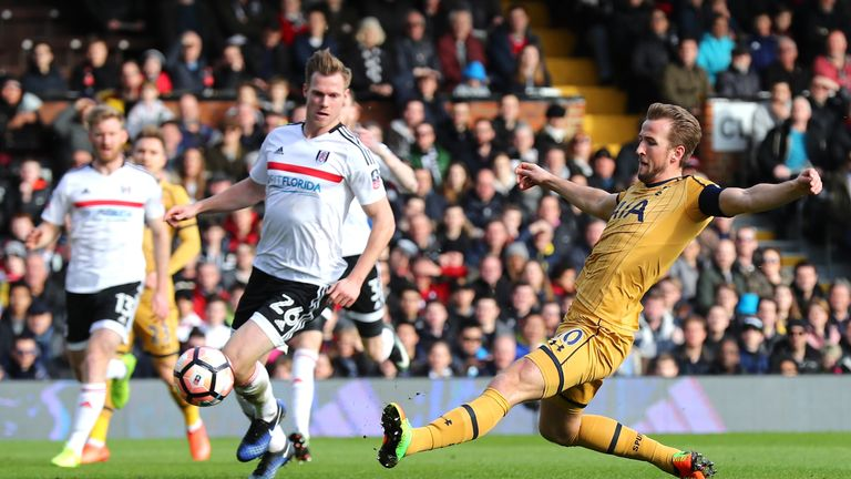 Kane slides in to give Tottenham the lead after 16 minutes