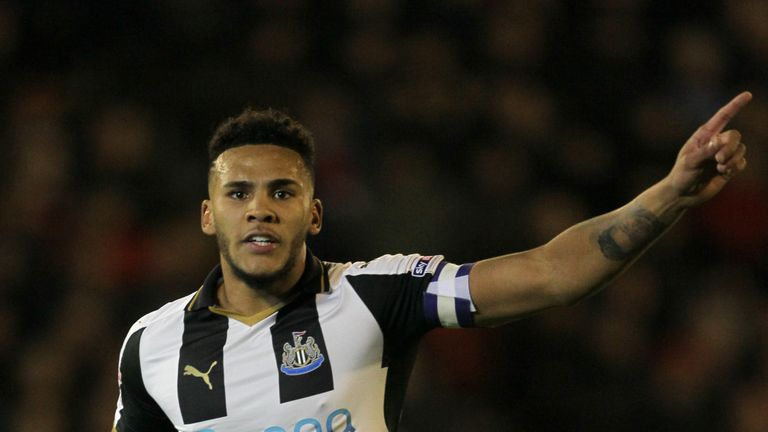Newcastle United's Jamaal Lascelles out alongside Matt Ritchie who is suspended.