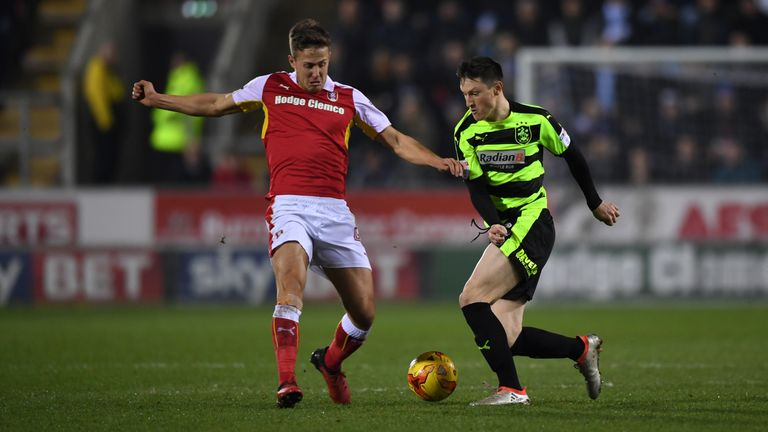 Joe Lolley tries to move away from Will Vaulks