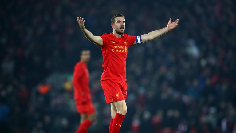 Liverpool are without injured captain Jordan Henderson