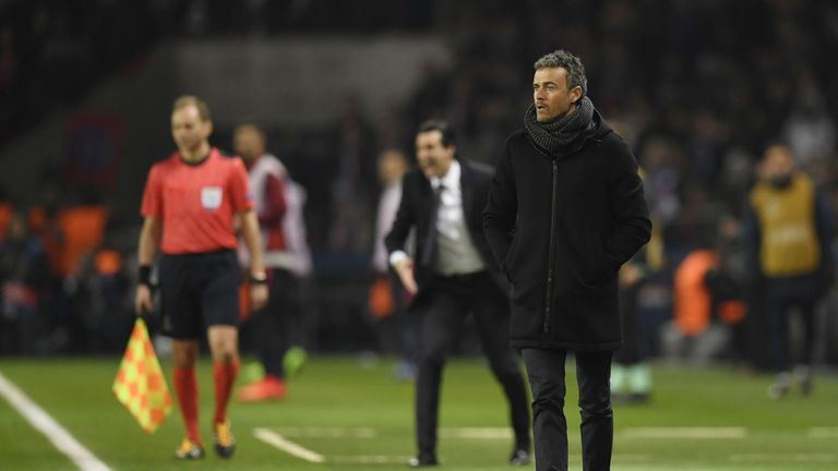 Luis Enrique is under pressure at Barcelona following their Champions League defeat to PSG