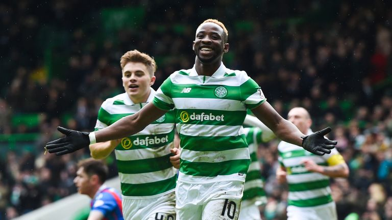 Dembele celebrates his 25th goal of the season