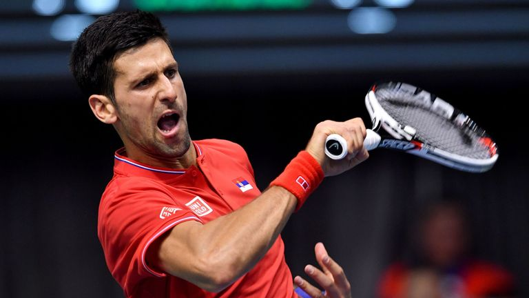 Novak Djokovic survived a scare to beat Daniil Medvedev