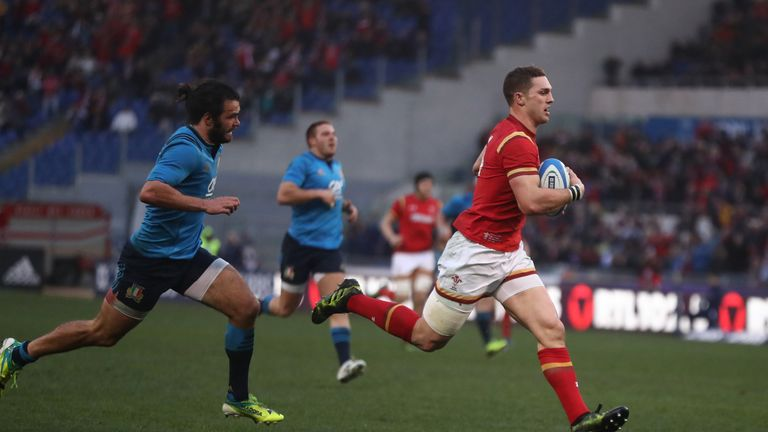George North scored a try in Wales' win against Italy