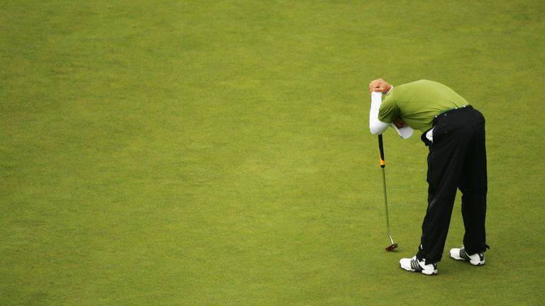 Garcia bogeyed the last at Carnoustie, when a par would have been enough for victory