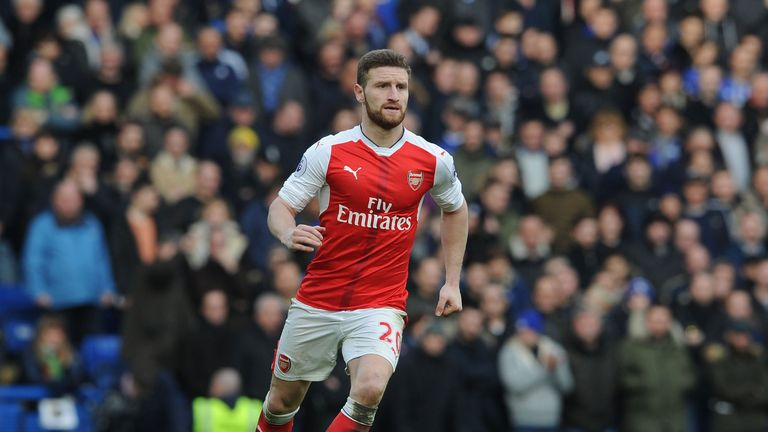 Shkodran Mustafi is a doubt for Saturday's FA Cup final