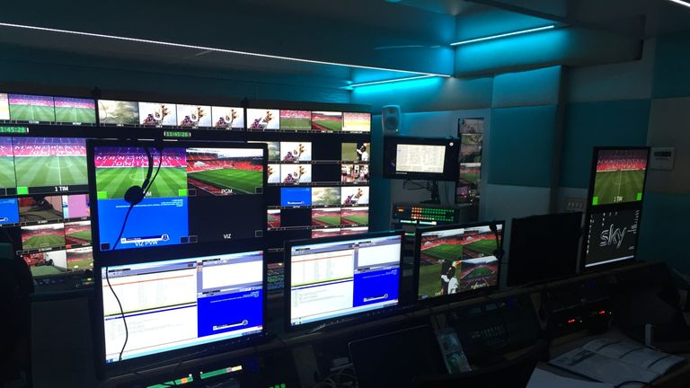 The Sky Sports production truck is a hub of activity long before kick-off