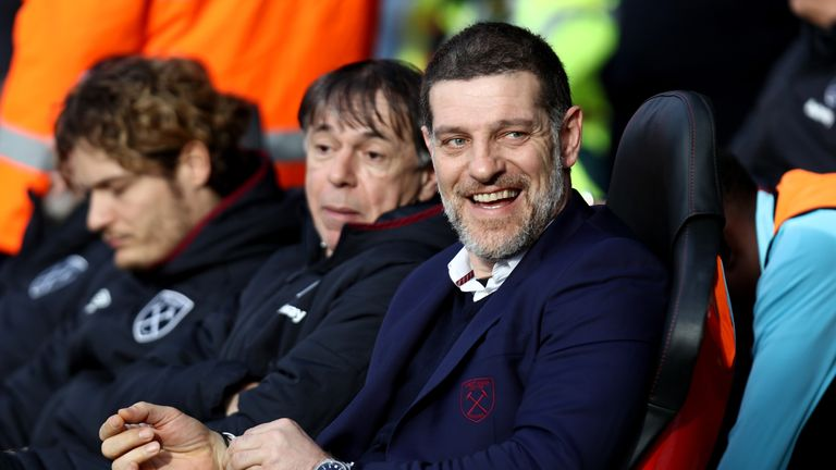 Slaven Bilic was all smiles on the bench after witnessing his West Ham side's display at Southampton