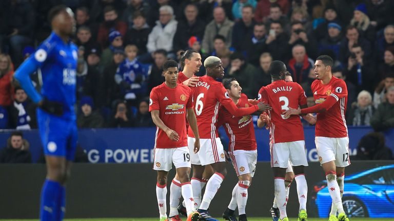 Mkhitaryan score one and set up another in United's win at Leicester
