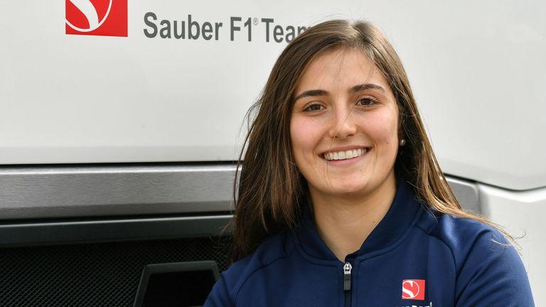 Tatiana Calderon is Sauber's official test driver