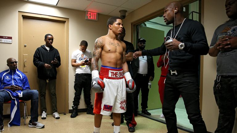 Mayweather's promotion of Gervonta Davis sparked the row with Davies