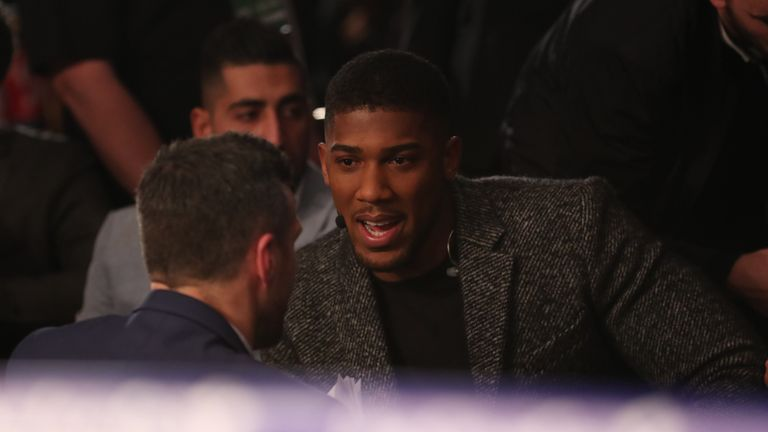 Joshua watched Bellew's victory over Haye from ringside