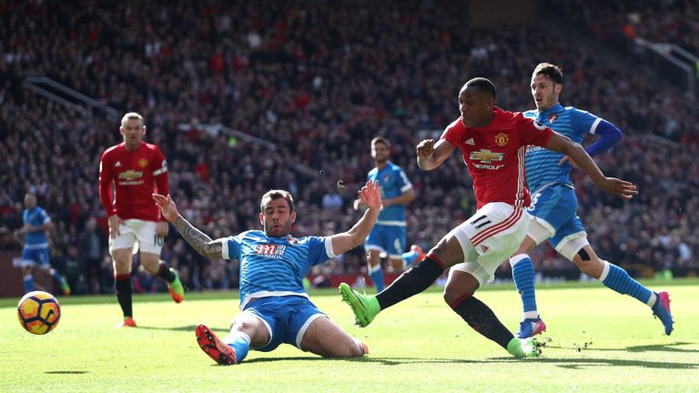 Anthony Martial was unable to find a way past Artur Boruc