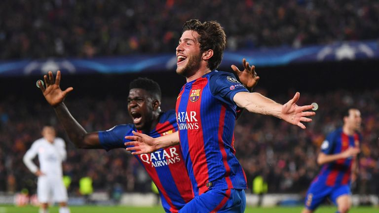 Chelsea are apparently keen on Barcelona's Sergi Roberto