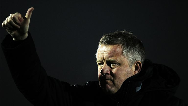 Sheffield United manager Chris Wilder won his second award in two years