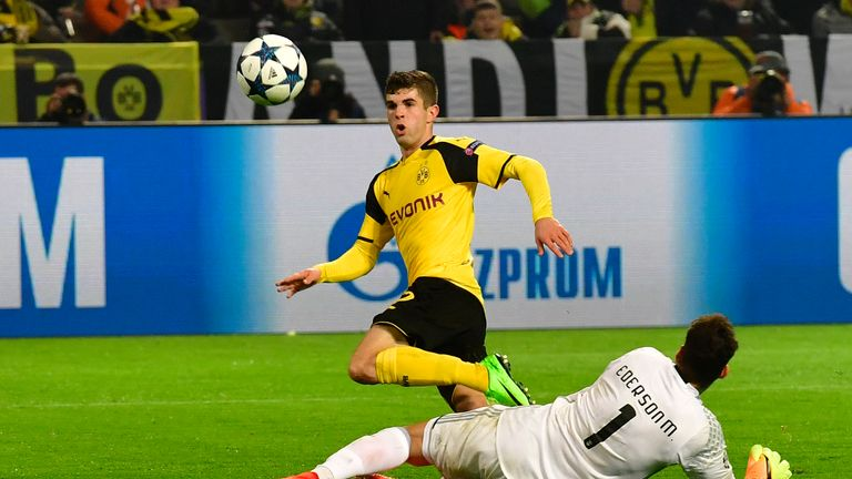 Christian Pulisic scored Dortumund's second goal at Signal Iduna Park