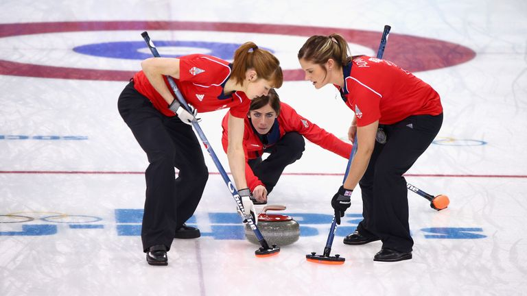 Eve Muirhead (centre) will take part in her third Winter Olympic Games after securing Great Britain's spot in Pyeongchang