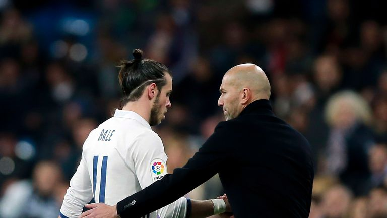 Zinedine Zidane refused to criticise Gareth Bale after the win in Napoli