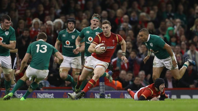 George North was a threat throughout the 80 minutes