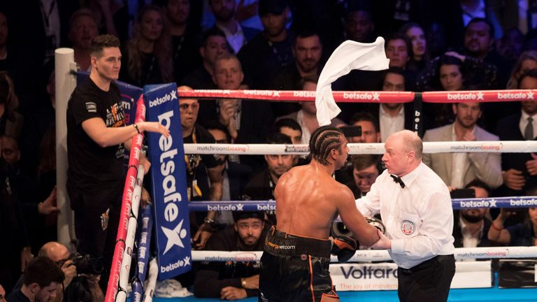 Haye lost the first fight in the 11th round when his corner threw in the towel