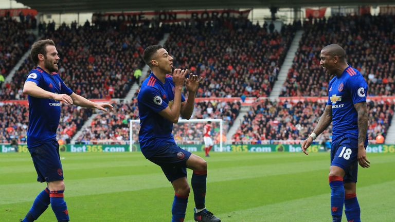 Man Utd winger Jesse Lingard's flute-playing goal celebration at Middlesbrough also attracted HBT abuse on social media