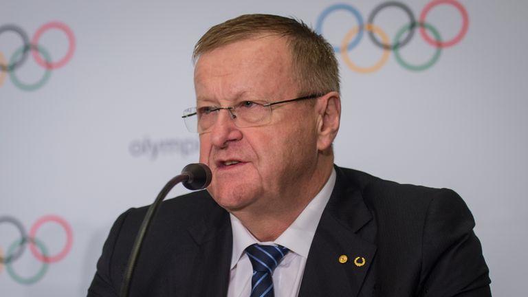 IOC vice president John Coates addressed the media