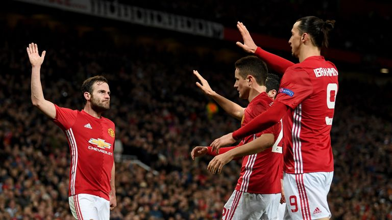 Juan Mata scored Manchester United's winner against Rostov on Thursday