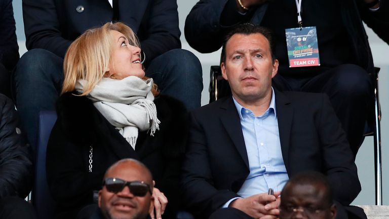 New Ivory Coast manager Marc Wilmots was watching in the stands