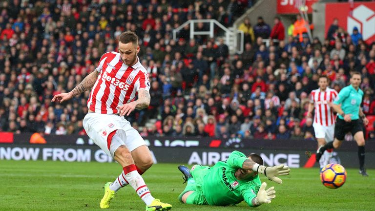 Marko Arnautovic scored a classy opener against Middlesbrough at the bet365 Stadium