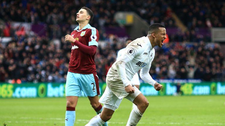 Martin Olsson scored Swansea's second goal