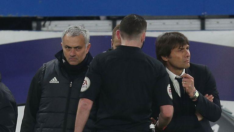 Jose Mourinho locks horns with Antonio Conte at Stamford Bridge on Sunday